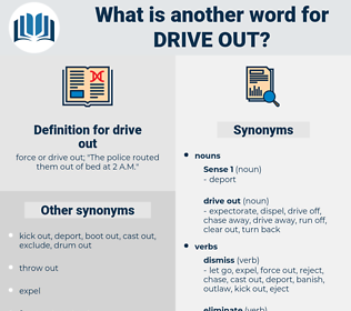 drive out, synonym drive out, another word for drive out, words like drive out, thesaurus drive out