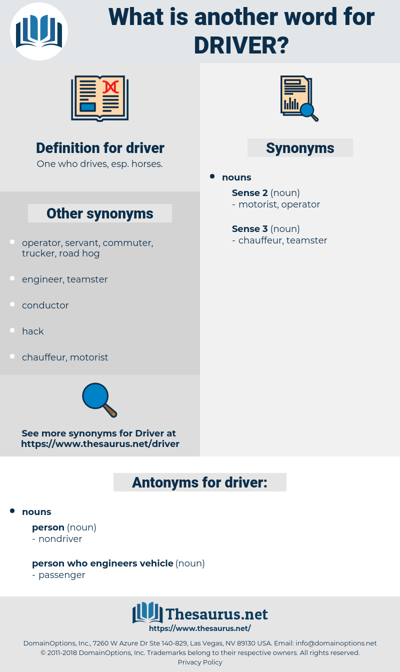 driver, synonym driver, another word for driver, words like driver, thesaurus driver
