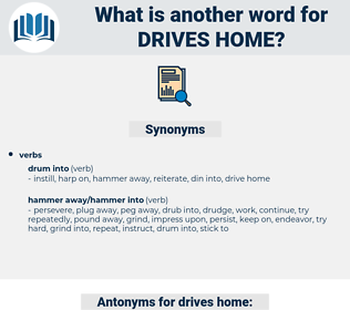 drives home, synonym drives home, another word for drives home, words like drives home, thesaurus drives home