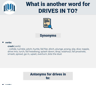 drives in to, synonym drives in to, another word for drives in to, words like drives in to, thesaurus drives in to