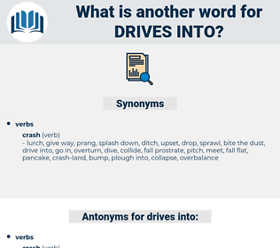 drives into, synonym drives into, another word for drives into, words like drives into, thesaurus drives into