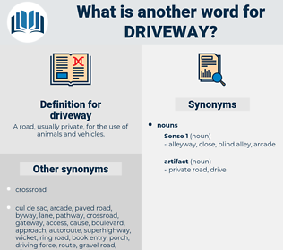 driveway, synonym driveway, another word for driveway, words like driveway, thesaurus driveway