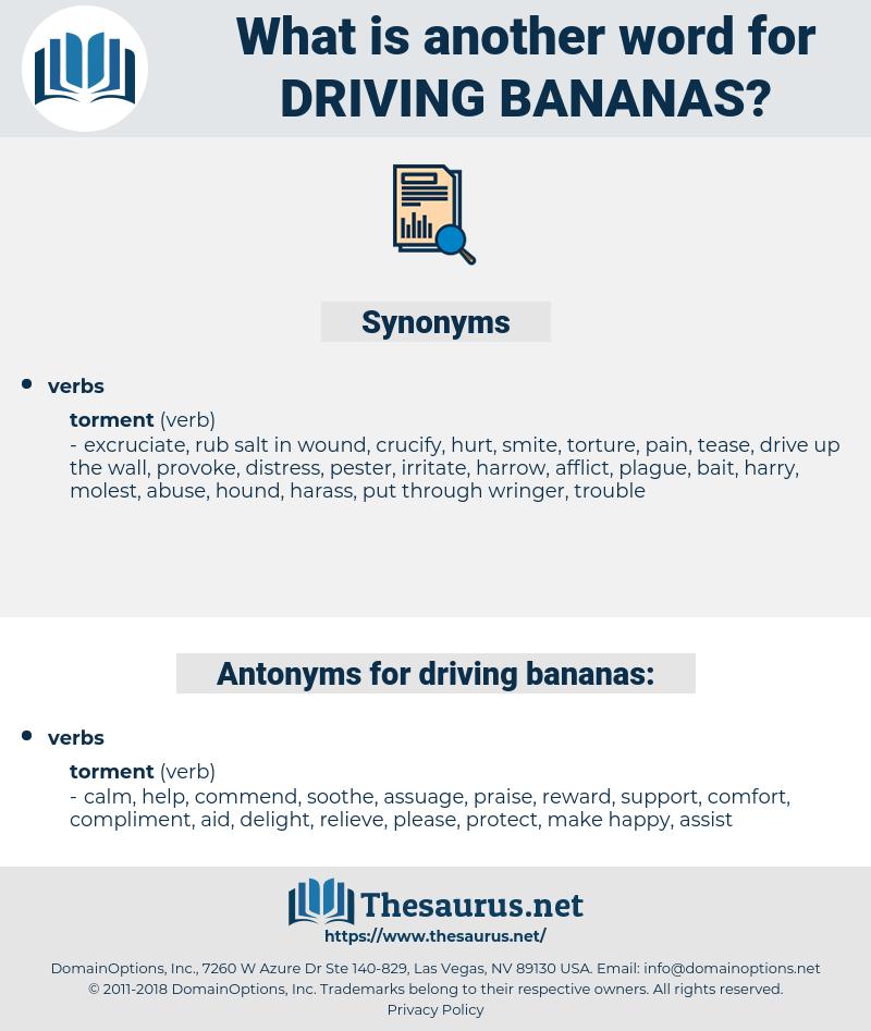 driving bananas, synonym driving bananas, another word for driving bananas, words like driving bananas, thesaurus driving bananas
