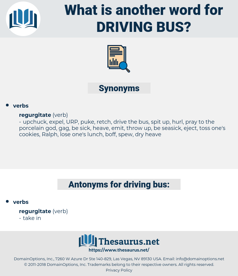 driving bus, synonym driving bus, another word for driving bus, words like driving bus, thesaurus driving bus