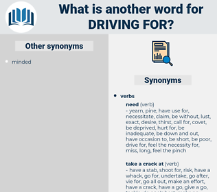 driving for, synonym driving for, another word for driving for, words like driving for, thesaurus driving for