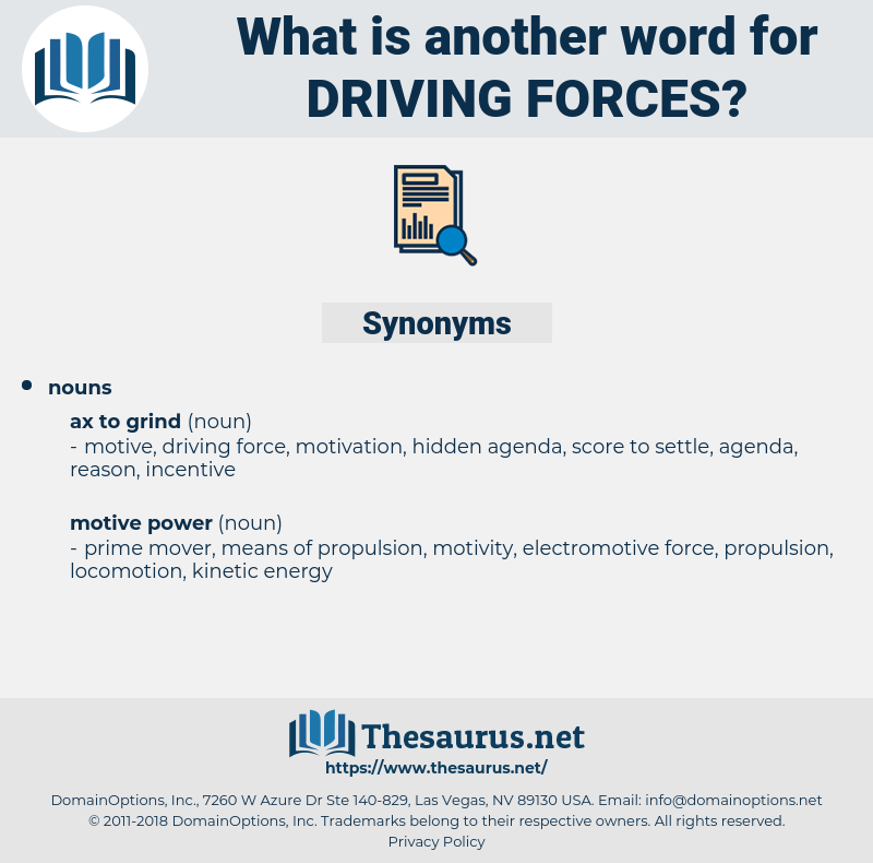 driving forces, synonym driving forces, another word for driving forces, words like driving forces, thesaurus driving forces