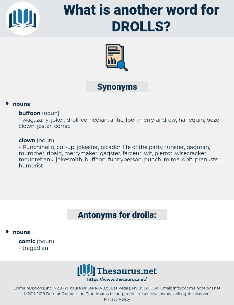drolls, synonym drolls, another word for drolls, words like drolls, thesaurus drolls