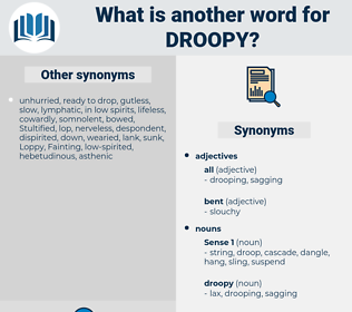 droopy, synonym droopy, another word for droopy, words like droopy, thesaurus droopy