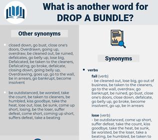 drop a bundle, synonym drop a bundle, another word for drop a bundle, words like drop a bundle, thesaurus drop a bundle