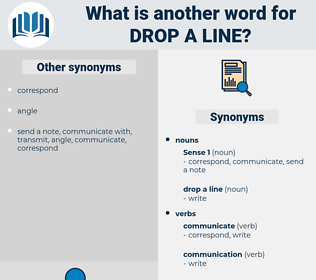 drop a line, synonym drop a line, another word for drop a line, words like drop a line, thesaurus drop a line