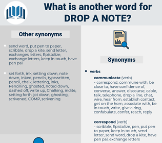 drop a note, synonym drop a note, another word for drop a note, words like drop a note, thesaurus drop a note