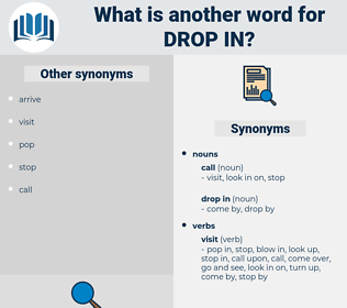 drop in, synonym drop in, another word for drop in, words like drop in, thesaurus drop in