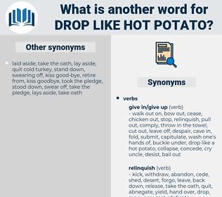 drop like hot potato, synonym drop like hot potato, another word for drop like hot potato, words like drop like hot potato, thesaurus drop like hot potato