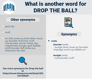 drop the ball, synonym drop the ball, another word for drop the ball, words like drop the ball, thesaurus drop the ball