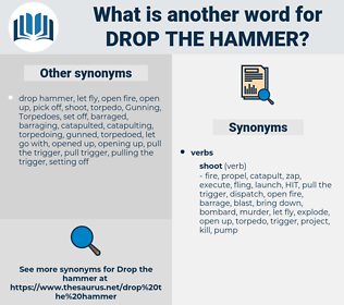 drop the hammer, synonym drop the hammer, another word for drop the hammer, words like drop the hammer, thesaurus drop the hammer