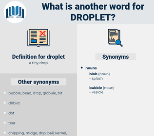 droplet, synonym droplet, another word for droplet, words like droplet, thesaurus droplet
