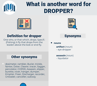 dropper, synonym dropper, another word for dropper, words like dropper, thesaurus dropper