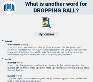 dropping ball, synonym dropping ball, another word for dropping ball, words like dropping ball, thesaurus dropping ball