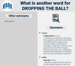 dropping the ball, synonym dropping the ball, another word for dropping the ball, words like dropping the ball, thesaurus dropping the ball