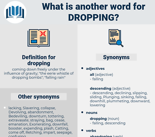 dropping, synonym dropping, another word for dropping, words like dropping, thesaurus dropping