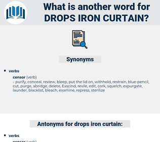 drops iron curtain, synonym drops iron curtain, another word for drops iron curtain, words like drops iron curtain, thesaurus drops iron curtain