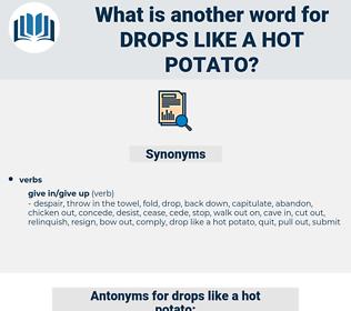drops like a hot potato, synonym drops like a hot potato, another word for drops like a hot potato, words like drops like a hot potato, thesaurus drops like a hot potato