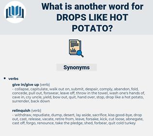 drops like hot potato, synonym drops like hot potato, another word for drops like hot potato, words like drops like hot potato, thesaurus drops like hot potato