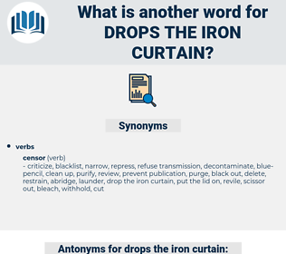 drops the iron curtain, synonym drops the iron curtain, another word for drops the iron curtain, words like drops the iron curtain, thesaurus drops the iron curtain