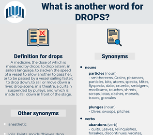 drops, synonym drops, another word for drops, words like drops, thesaurus drops