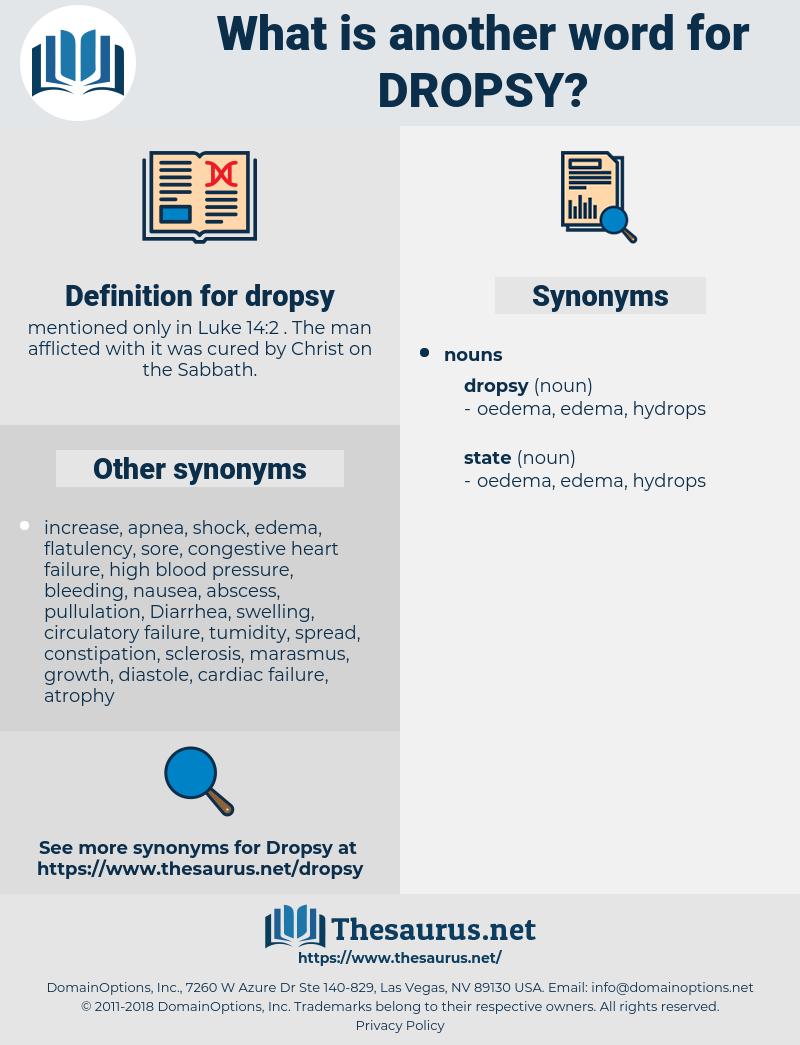 dropsy, synonym dropsy, another word for dropsy, words like dropsy, thesaurus dropsy