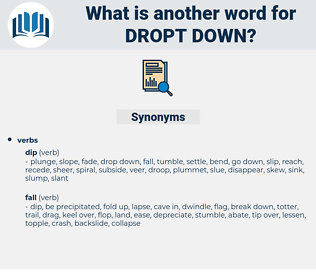 dropt down, synonym dropt down, another word for dropt down, words like dropt down, thesaurus dropt down