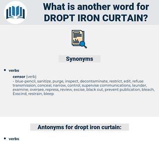 dropt iron curtain, synonym dropt iron curtain, another word for dropt iron curtain, words like dropt iron curtain, thesaurus dropt iron curtain