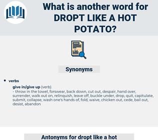 dropt like a hot potato, synonym dropt like a hot potato, another word for dropt like a hot potato, words like dropt like a hot potato, thesaurus dropt like a hot potato
