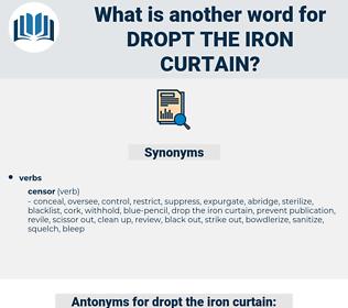 dropt the iron curtain, synonym dropt the iron curtain, another word for dropt the iron curtain, words like dropt the iron curtain, thesaurus dropt the iron curtain