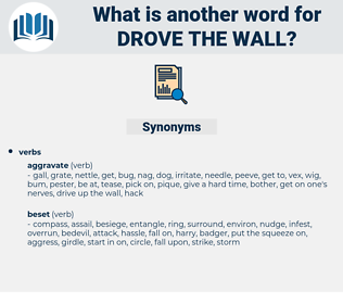 drove the wall, synonym drove the wall, another word for drove the wall, words like drove the wall, thesaurus drove the wall