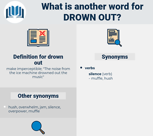 drown out, synonym drown out, another word for drown out, words like drown out, thesaurus drown out