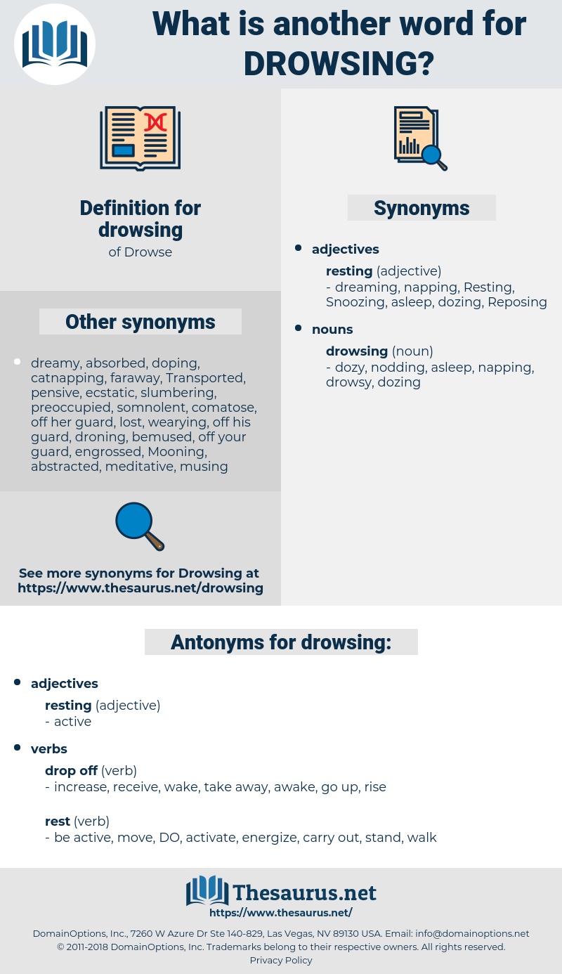 drowsing, synonym drowsing, another word for drowsing, words like drowsing, thesaurus drowsing
