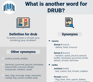 drub, synonym drub, another word for drub, words like drub, thesaurus drub