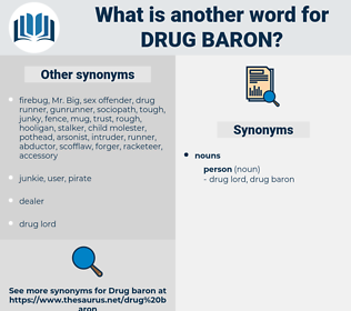drug baron, synonym drug baron, another word for drug baron, words like drug baron, thesaurus drug baron