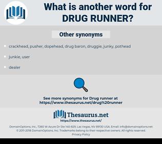 drug runner, synonym drug runner, another word for drug runner, words like drug runner, thesaurus drug runner