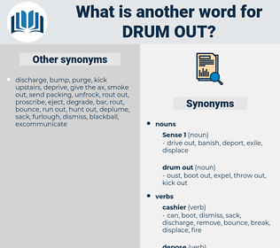 drum out, synonym drum out, another word for drum out, words like drum out, thesaurus drum out