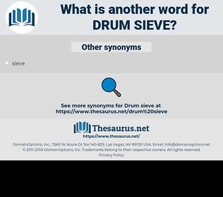 drum sieve, synonym drum sieve, another word for drum sieve, words like drum sieve, thesaurus drum sieve