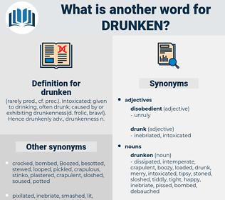 drunken, synonym drunken, another word for drunken, words like drunken, thesaurus drunken