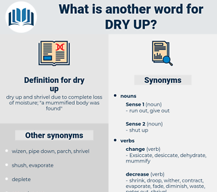dry up, synonym dry up, another word for dry up, words like dry up, thesaurus dry up