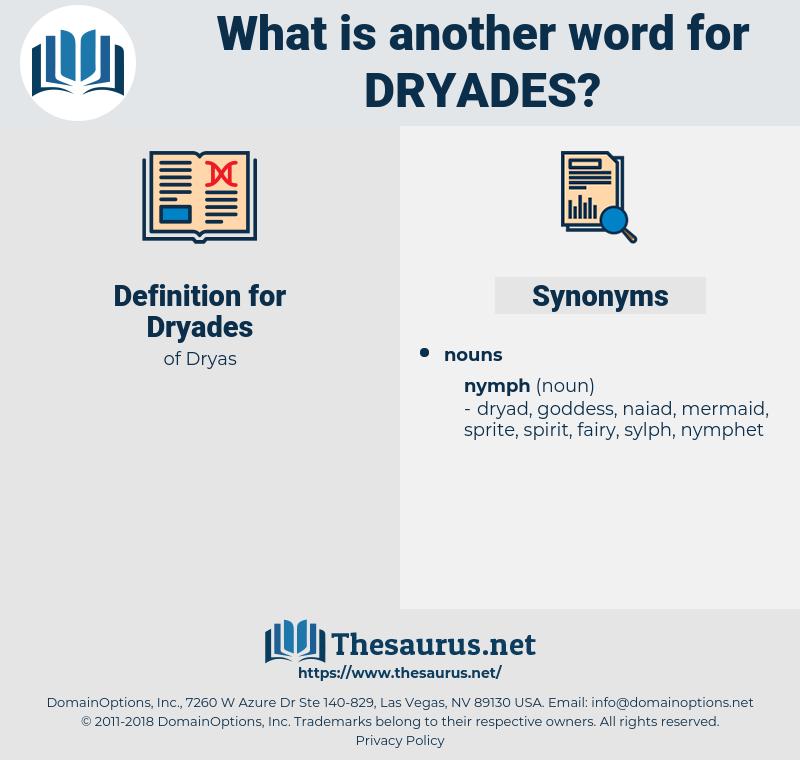 Dryades, synonym Dryades, another word for Dryades, words like Dryades, thesaurus Dryades