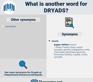 dryads, synonym dryads, another word for dryads, words like dryads, thesaurus dryads