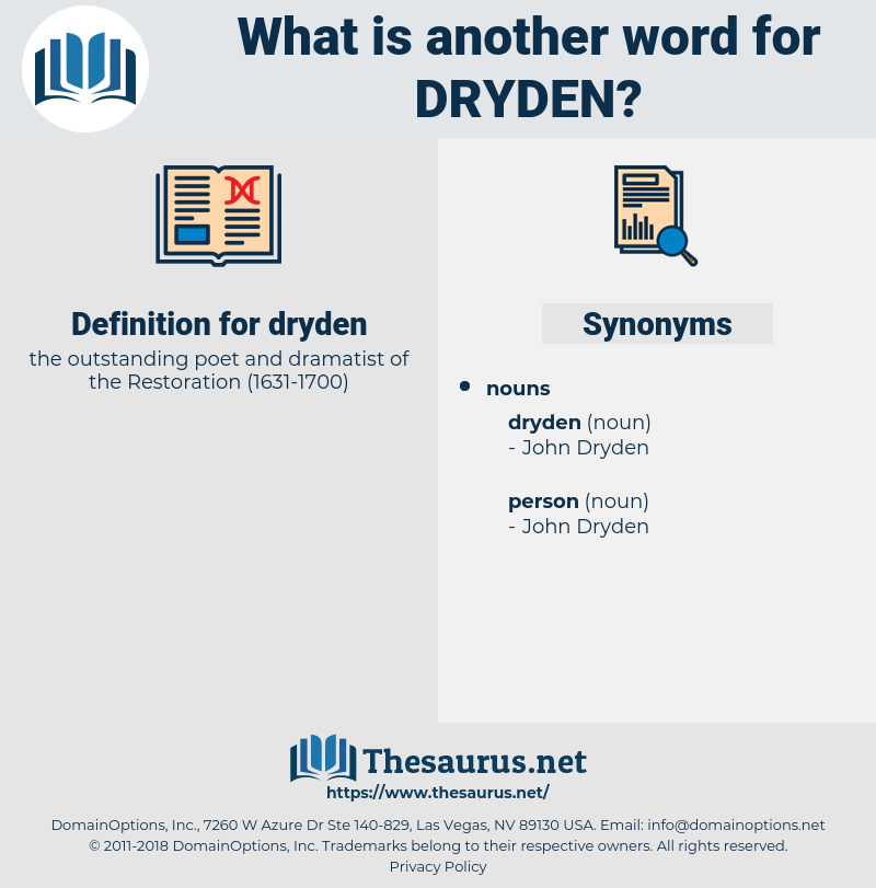 dryden, synonym dryden, another word for dryden, words like dryden, thesaurus dryden