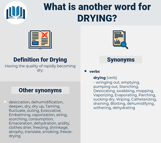 Drying, synonym Drying, another word for Drying, words like Drying, thesaurus Drying