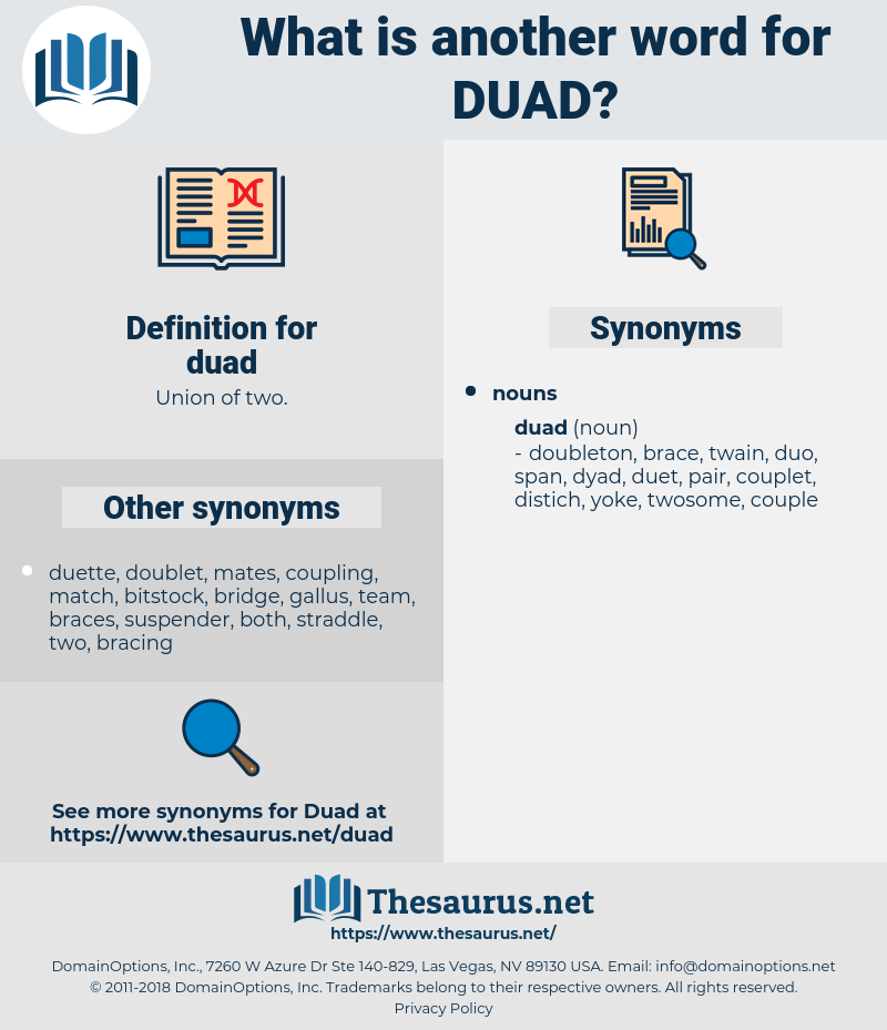 duad, synonym duad, another word for duad, words like duad, thesaurus duad