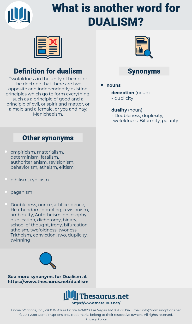 dualism, synonym dualism, another word for dualism, words like dualism, thesaurus dualism